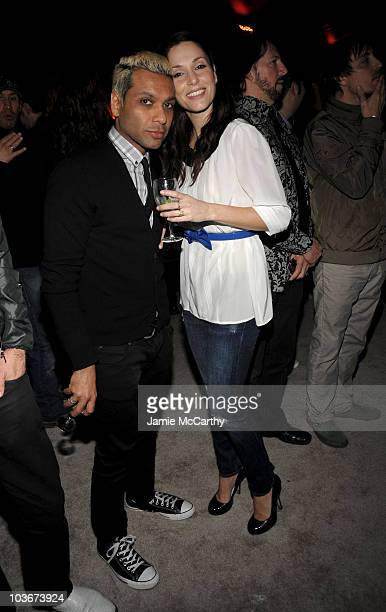Musician Tony Kanal of the band No Doubt and Erin Lokitz attend the I Heart Ronson launch party presented by Charlotte Ronson and JCPenney held at...