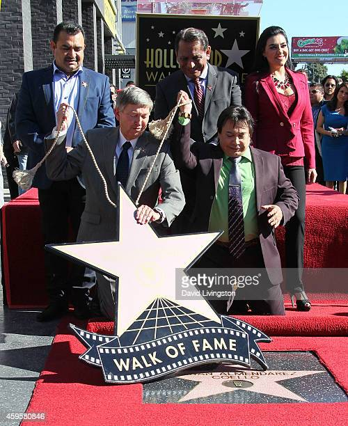 Musician Tony Melendez Hollywood Chamber of Commerce President CEO Leron Gubler Los Angeles Councilmember Gil Cedillo radio personality Renan...