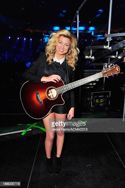 Musician Tori Kelly backstage during the 48th Annual Academy Of Country Music Awards ACM Fan Jam at Orelans Arena on April 7 2013 in Las Vegas Nevada