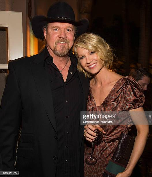 Musician Trace Adkins and actress Jenna Elfman at the NBCUniversal 2013 TCA Winter Press Tour Party held at The Langham Huntington Hotel and Spa on...