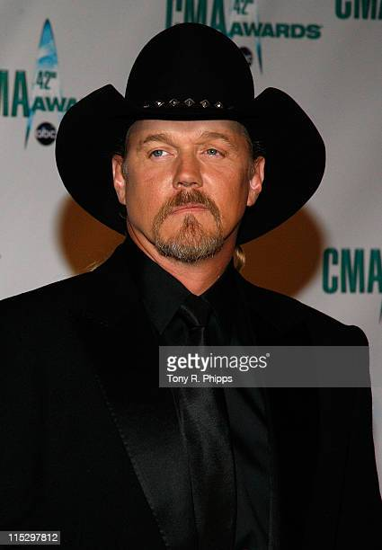 Musician Trace Adkins attends the 42nd Annual CMA Awards at the Sommet Center on November 12 2008 in Nashville Tennessee