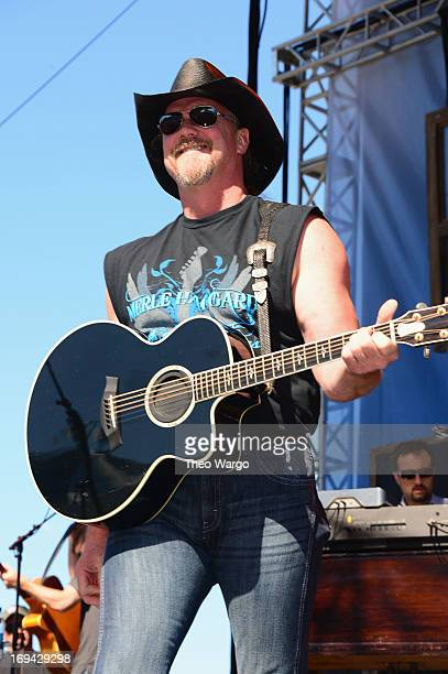 Musician Trace Adkins performs at iHeartRadio and CocaCola's Open For Summer Concert on May 24 2013 in Charlotte North Carolina The concert kicks off...