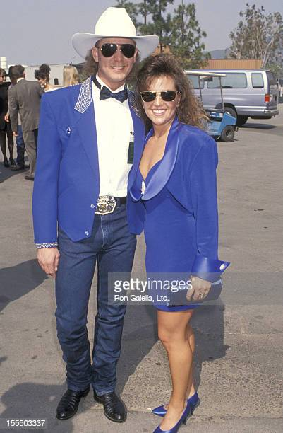 Musician Tracy Lawrence and wife Frances Weatherford attend the 29th Annual Academy of Country Music Awards on May 3 1994 at Universal Amphitheatre...