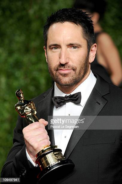 Musician Trent Reznor arrives at the Vanity Fair Oscar party hosted by Graydon Carter held at Sunset Tower on February 27 2011 in West Hollywood...