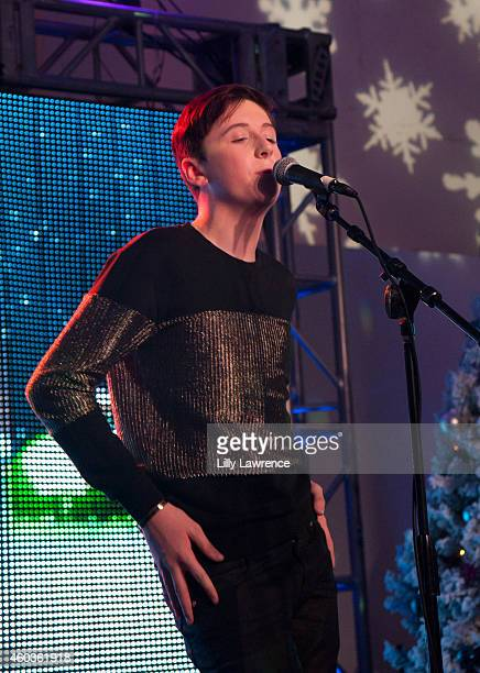 Musician Trevor Moran performs on stage at What's Trending 3rd Annual TubeAThon on December 11 2014 in Los Angeles California