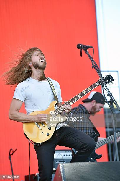 Musician Trevor Terndrup of Moon Taxi performs onstage during day 2 of the 2016 Coachella Valley Music Arts Festival Weekend 1 at the Empire Polo...