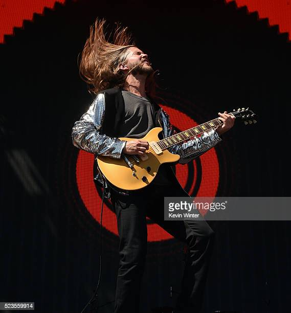 Musician Trevor Terndrup of Moon Taxi performs onstage during day 2 of the 2016 Coachella Valley Music Arts Festival Weekend 2 at the Empire Polo...