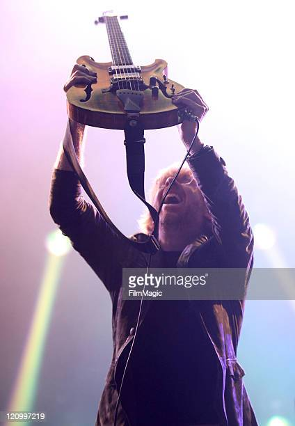 Musician Trey Anastasio of the band Phish performs at the Lands End Stage during the 2011 Outside Lands Music and Arts Festival held at Golden Gate...
