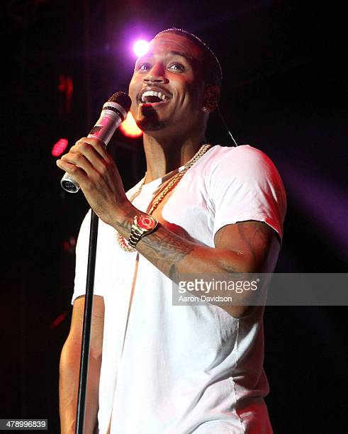 Musician Trey Songz performs onstage during Day 1 of Jazz In The Gardens at Sun Life Stadium on March 15 2014 in Miami Gardens Florida