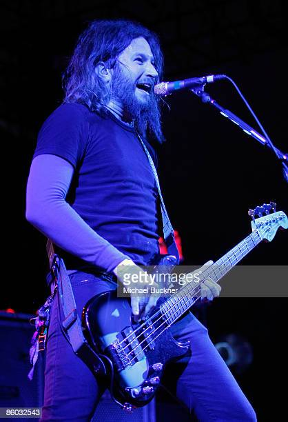 Musician Troy Sanders of Mastodon performs during day 1 of the Coachella Valley Music Arts Festival held at the Empire Polo Club on April 18 2009 in...