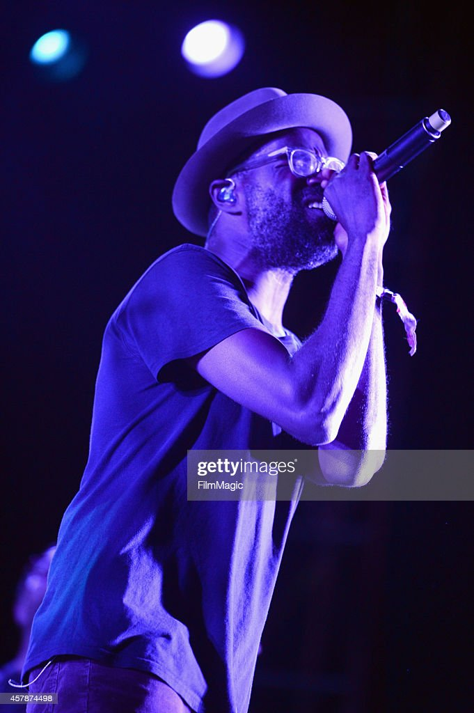 Musician Tunde Adebimpe of TV on the Radio performs onstage during day 2 of the 2014 Life is Beautiful iestival on October 25, 2014 in Las Vegas, Nevada.