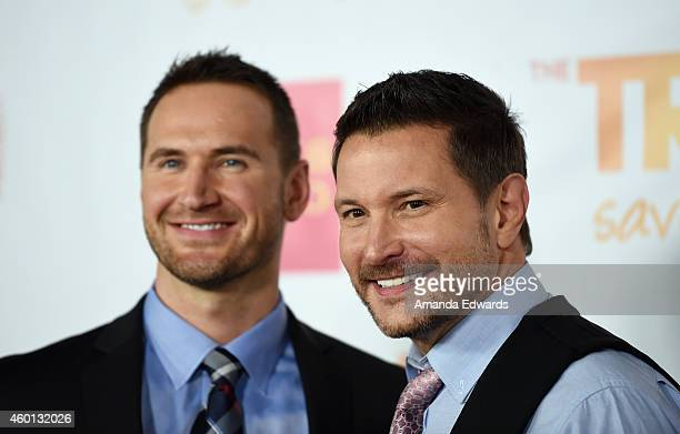 Musician Ty Herndon and Matt Collum arrive at the TrevorLIVE Los Angeles benefit event at the Hollywood Palladium on December 7 2014 in Los Angeles...