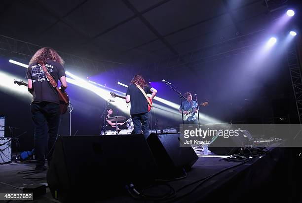 Musician Ty Segall performs onstage at This Tent during day 1 of the 2014 Bonnaroo Arts And Music Festival on June 12 2014 in Manchester Tennessee