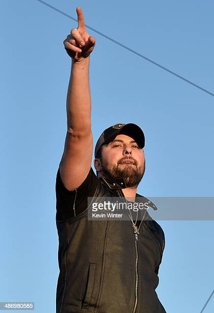 Musician Tyler Farr performs onstage during day 2 of 2014 Stagecoach California's Country Music Festival at the Empire Polo Club on April 26 2014 in...