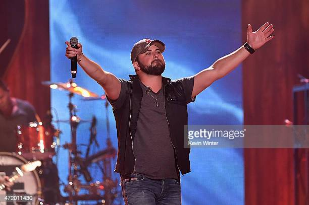 Musician Tyler Farr performs onstage during the 2015 iHeartRadio Country Festival at The Frank Erwin Center on May 2 2015 in Austin Texas The 2015...