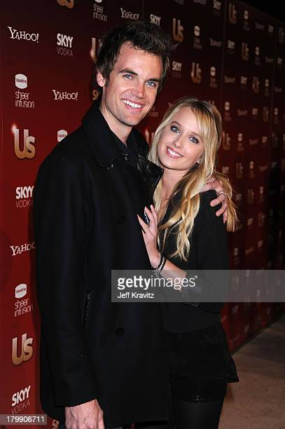 Musician Tyler Hilton and actress Megan Park arrive at US Weekly's Hot Hollywood 2009 party at Voyeur on November 18 2009 in West Hollywood California