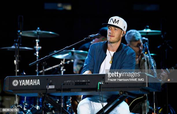 Musician Tyler Hubbard of Florida Georgia Line performs onstage at the Bash at the Beach presented by WME at the Mandalay Bay Beach at Mandalay Bay...