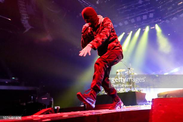 Musician Tyler Joseph of Twenty One Pilots performs on stage during the Bandito tour at Spark Arena on December 21 2018 in Auckland New Zealand
