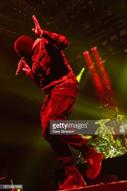 Musician Tyler Joseph of Twenty One Pilots performs on stage during the Bandito tour at Spark Arena on December 21, 2018 in Auckland, New Zealand.