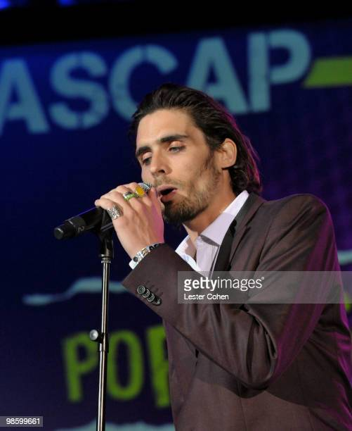 Musician Tyson Ritter of The AllAmerican Rejects performs onstage at the 27th Annual ASCAP Pop Music Awards held at the Renaissance Hollywood Hotel...