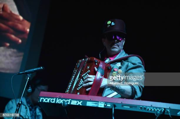 Musician Ulises Lozano of the band Kinky attends Film Independent at LACMA's Bring The Noise Wierd Science at The Bing Theatre At LACMA on July 20...