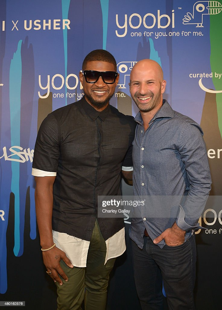 Yoobi x usher vip launch event photos and images getty images musician usher l and ceo and co founder of yoobi ido leffler attend m4hsunfo