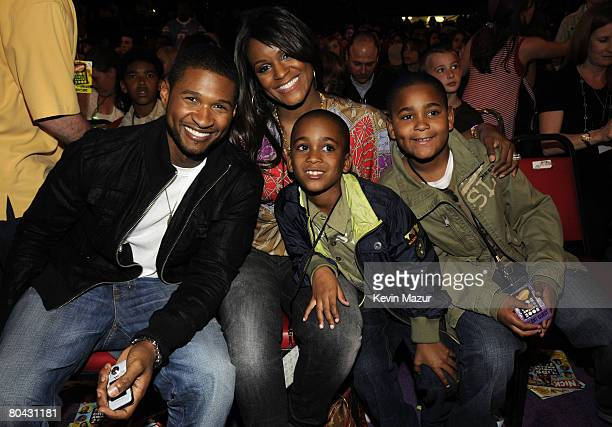 Musician Usher and Guests during Nickelodeons 2008 Kids Choice Awards held at the Pauley Pavilion on March 29 2008 in Westwood California