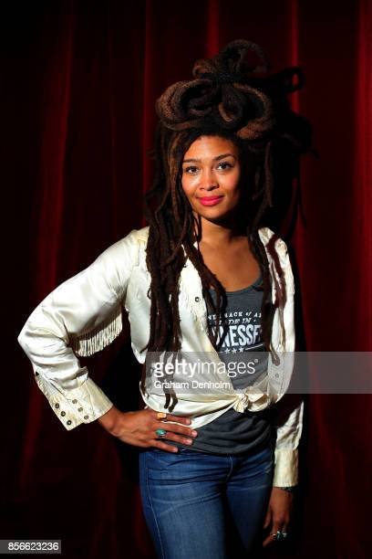 Musician Valerie June poses at the Australian Americana Music Honours Night at The Thornbury Theatre on October 2 2017 in Melbourne Australia