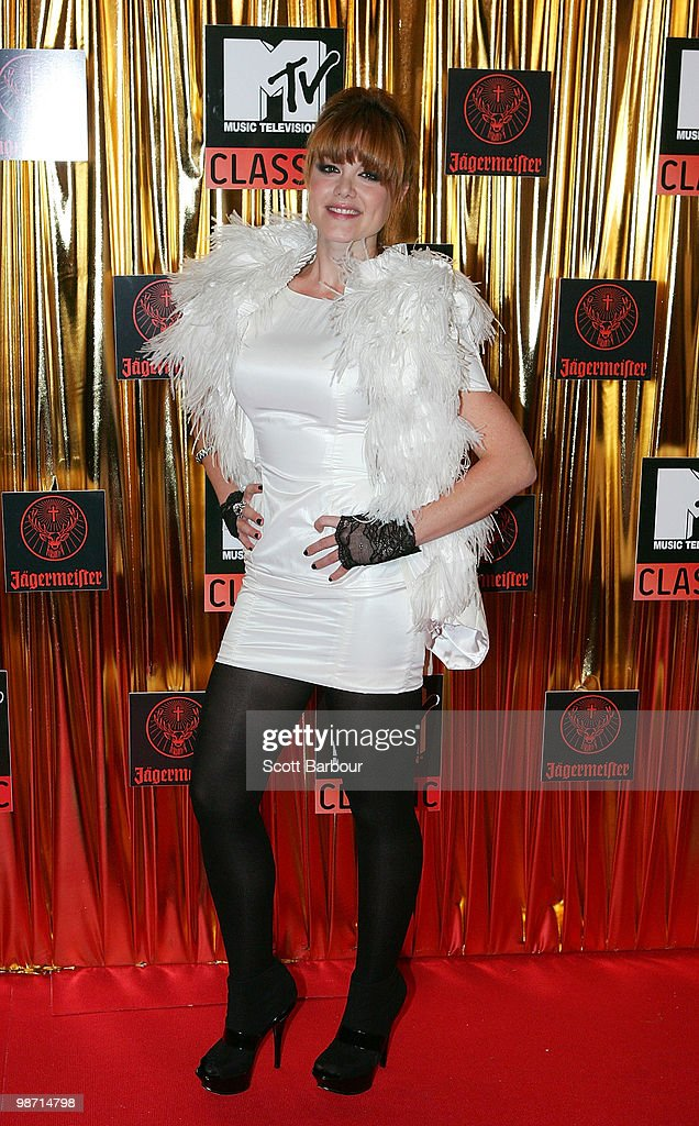 Musician Vanessa Amorossi arrives at the 'MTV Classic: The Launch' music event at the Palace Theatre on April 28, 2010 in Melbourne, Australia. The event marks the launch of MTV's new music channel 'MTV Classic', a 24-hour channel of classic contemporary music aimed at 25-40 year olds.