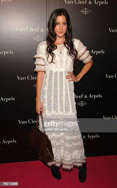 "Musician Vanessa Carlton arrives during ""Une Journe A Paris"" hosted by Van Cleef & Arpels at Hammerstein Ballroom on September 4, 2007 in New York..."