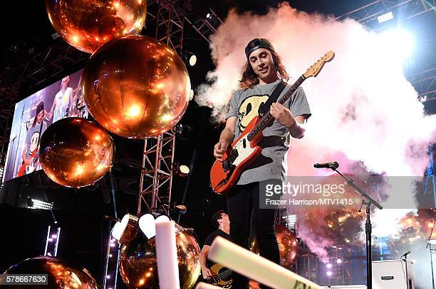 Musician Vic Fuentes of band Pierce the Veil performs onstage at the MTV Fandom Awards San Diego at PETCO Park on July 21 2016 in San Diego California