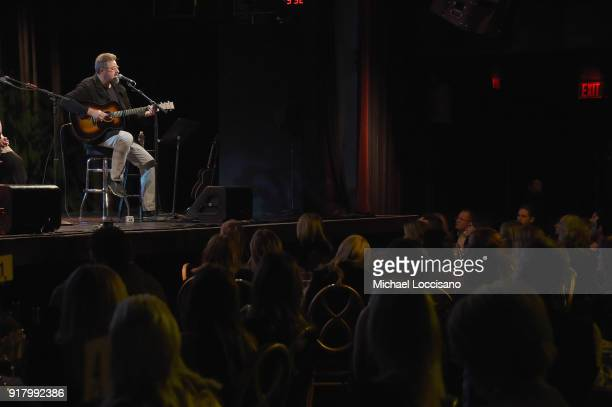 Musician Vince Gill performs onstage at the Country Music Hall of Fame and Museum's 'All for the Hall' Benefit on February 12 2018 in New York City