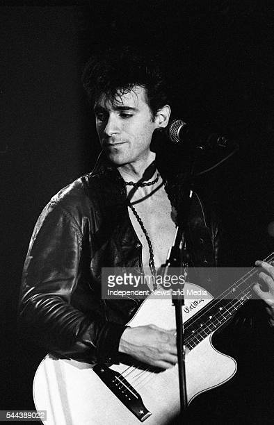 Musician Warren Cuccurullo, of the group Duran Duran, performs onstage at the National Stadium, Dublin, Ireland, March 22, 1993.