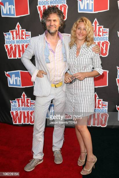 Musician Wayne Coyne of The Flaming Lips and wife Michelle Martin Coyne arrive at the 2008 VH1 Rock Honors honoring The Who at UCLA's Pauley Pavilion...