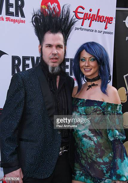 Musician Wayne Static And His Wife Tera Wray Static Arrive At The 3rd Annual Revolver Golden