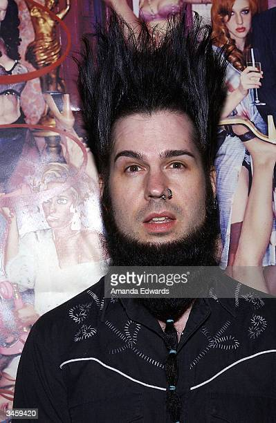 Musician Wayne Static arrives at the record release party for Gene Simmons' 'Asshole' on April 22 2004 at the Key Club in West Hollywood California