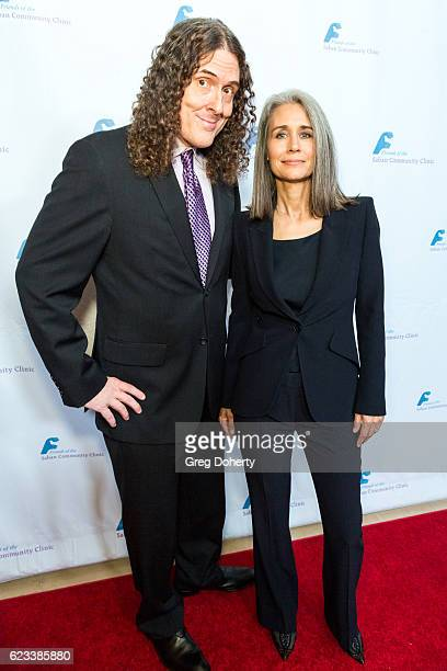 Musician Weird Al Yankovic and his wife Suzanne Krajewski arrive for the Saban Community Clinic's 40th Annual Dinner Gala at The Beverly Hilton Hotel...