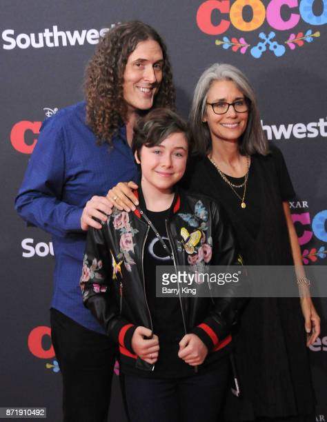 Musician Weird Al Yankovic daughter Nina Yankovic and wife Suzanne Yankovic attend the US Premiere of Disney Pixar's 'Coco' at El Capitan Theatre on...