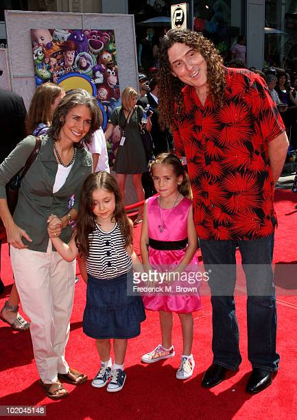 Musician Weird Al Yankovic wife Suzanne Yankovic and kids arrive at premiere of Walt Disney Pictures' Toy Story 3 held at El Capitan Theatre on June...