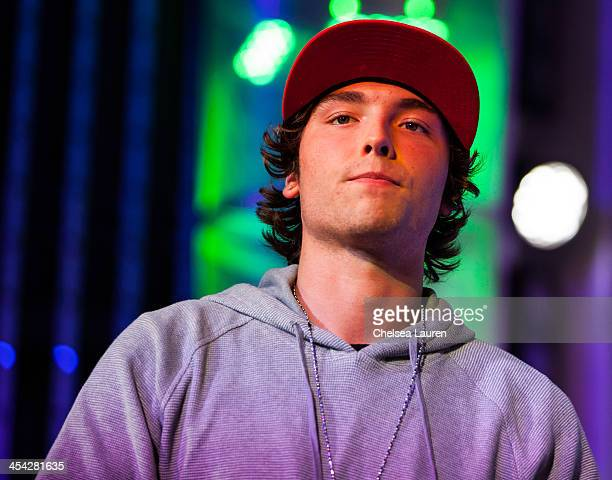 Musician Wesley Stromberg of Emblem3 performs at The Salvation Army's 4th annual Rock The Red Kettle concert at 5 Towers Outdoor Concert Arena on...