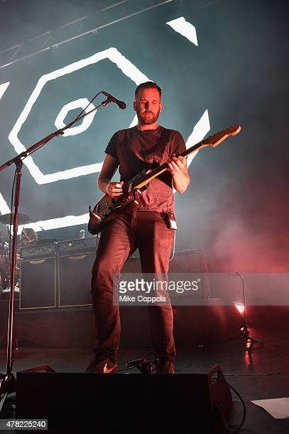 Musician Will Farquarson of Bastille performs onstage at the MercedesBenz 2015 Evolution Tour kickoff on June 24 2015 in New York City
