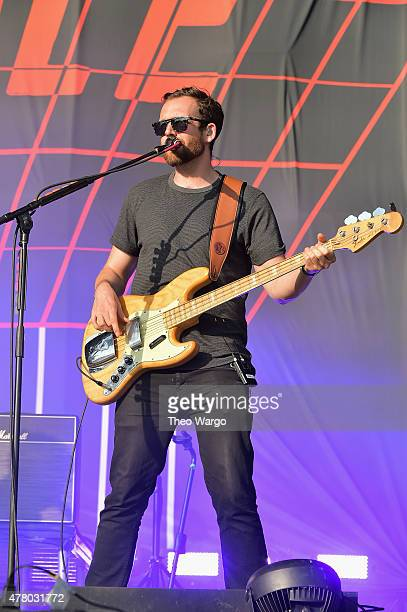 Musician Will Farquarson of Bastille performs onstage during day 4 of the Firefly Music Festival on June 21 2015 in Dover Delaware