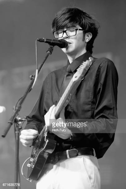 Musician Will Toledo of Car Seat Headrest performs at the Mojave Tent during day 2 of the 2017 Coachella Valley Music Arts Festival at the Empire...