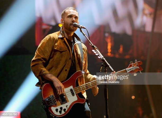 Musician William Farquarson of Bastille performs onstage during the 2014 iHeartRadio Music Festival at the MGM Grand Garden Arena on September 19...