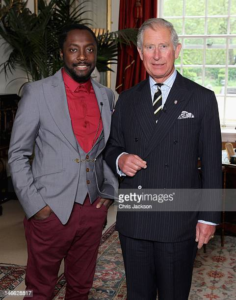 Musician william meets Prince Charles Prince of Wales at Clarence House to discuss a donation from the iamangel Foundation to support the work of The...