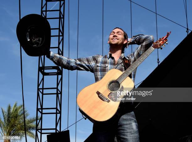 Musician William Michael Morgan performs on the Toyota Mane Stage stage during day 1 of 2017 Stagecoach California's Country Music Festival at the...
