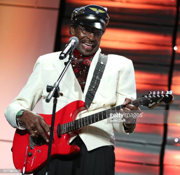 Musician Willie Chambers performs at A Place Called Home's 18th Annual Gala For The Children at The Beverly Hilton Hotel on December 05 2018 in...