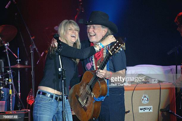 Musician Willie Nelson along with Musician Daughter Paula Nelson Friend's and Family preform live to help The Launch of the Sustainable Biodiesel...