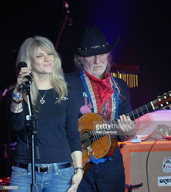 Musician Willie Nelson along with Musician Daughter Paula Nelson preform live to help The Launch of the Sustainable Biodiesel Alliance at the Hard...