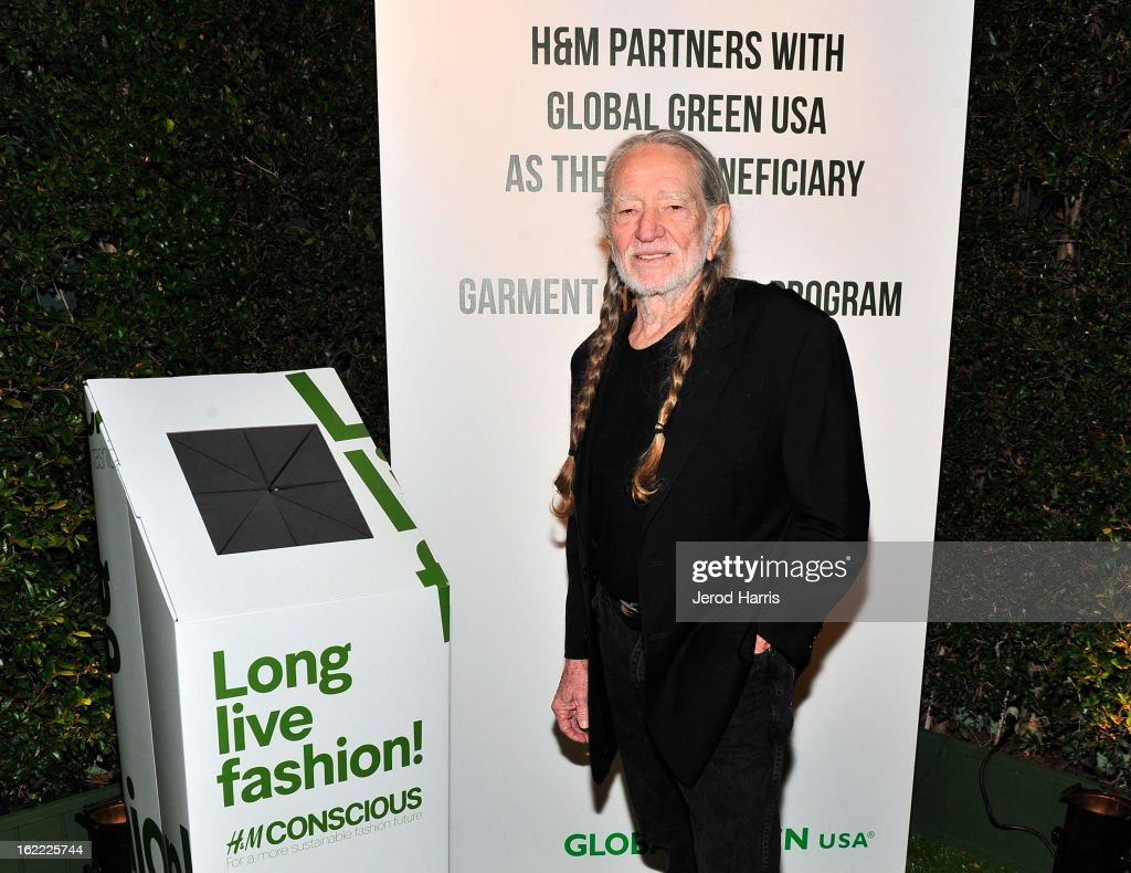 Musician Willie Nelson attends Global Green USA's 10th Anniversary Pre-Oscar Party sponsored by H&M at Avalon on February 20, 2013 in Hollywood, California.